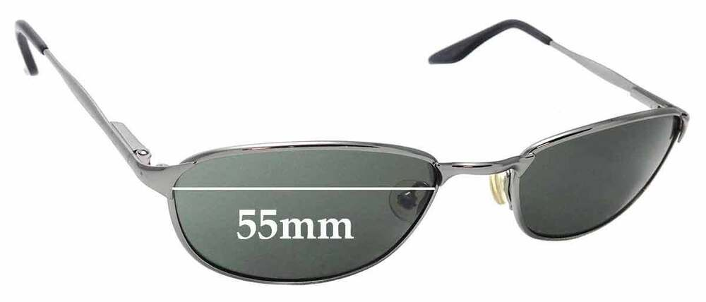 007281d8dcb2a7 Details about SFx Replacement Sunglass Lenses fits Ray Ban B L W2962 - 55mm  Wide
