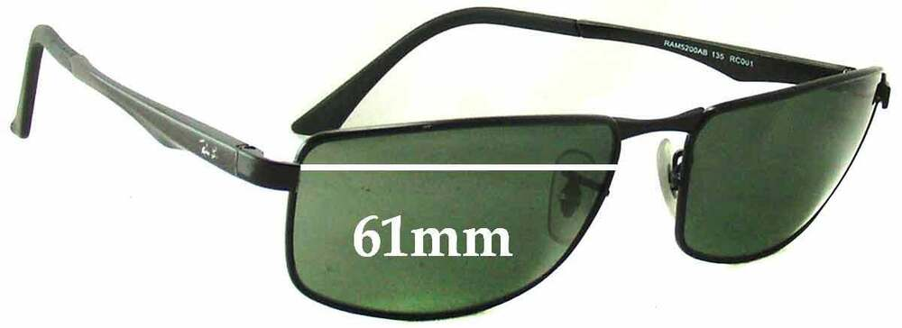 557f9ec41ac Details about SFx Replacement Sunglass Lenses fits Ray Ban RAM 5200AB - 61mm  Wide