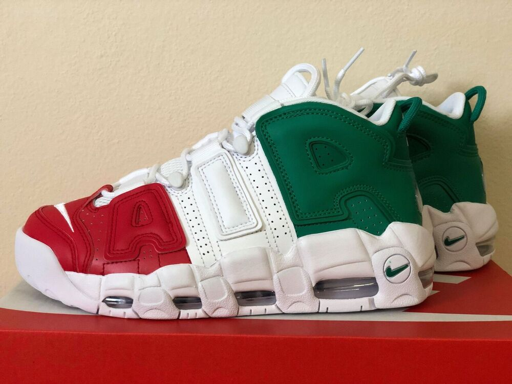 ecf6c2d18b Nike Air More Uptempo 96 Italy QS Milan AV3811-600 Mens Basketball Shoes  NIB | eBay