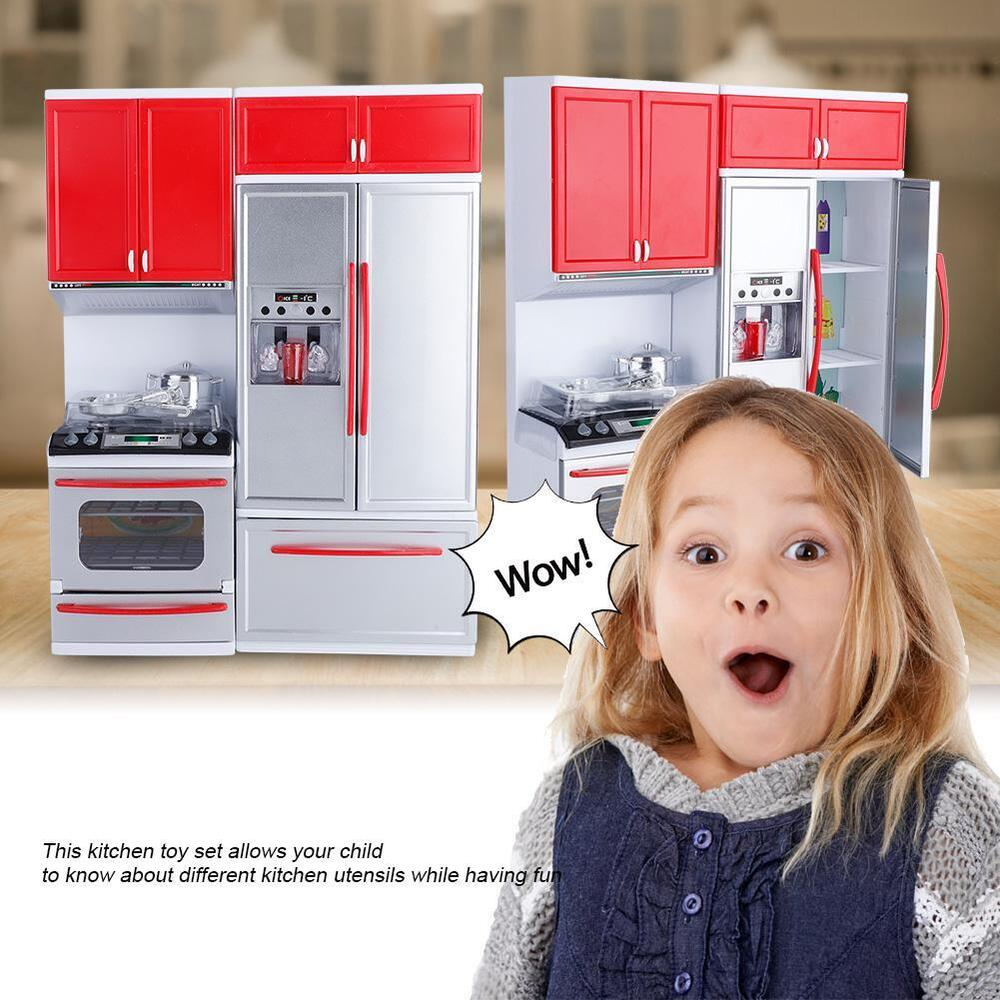 Play Kitchens For Girls: Pretend Play Kitchen Set For Kids Mini Role Play Food
