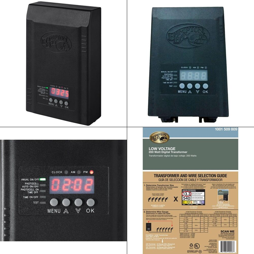 Hampton Bay Low Voltage Landscape Lighting Transformer: Landscape Transformer Hampton Bay Light Lighting Outdoor