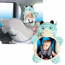 Wide View Rear Adjustable Safety Seat Car Back Mirror Headrest Mount For Baby US
