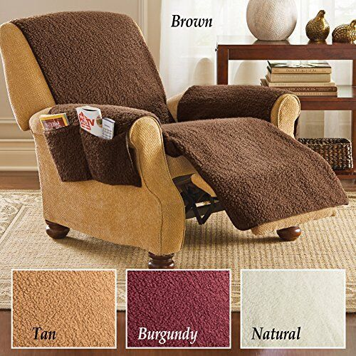 Fleece Armchair Recliner Cover Protector Furniture Cover w