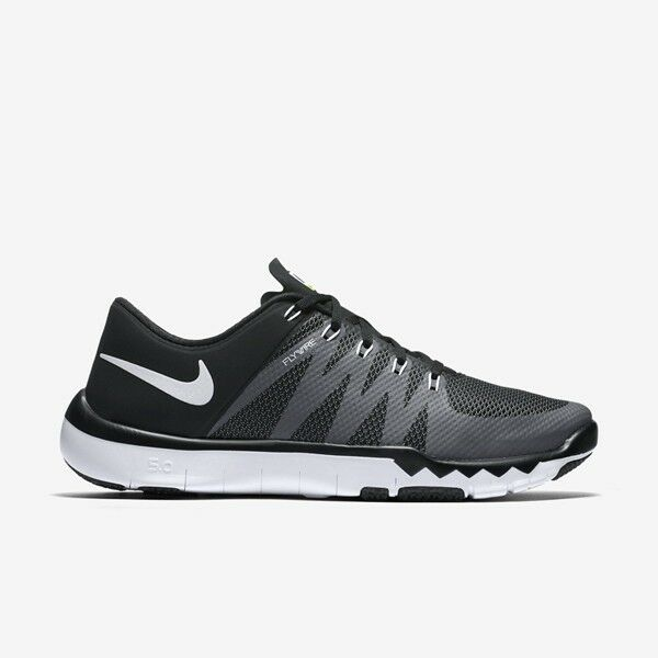 3cef068fac93 Details about Mens Nike Free Trainer 5.0 V6 Running Shoes Black Grey White  719922 010