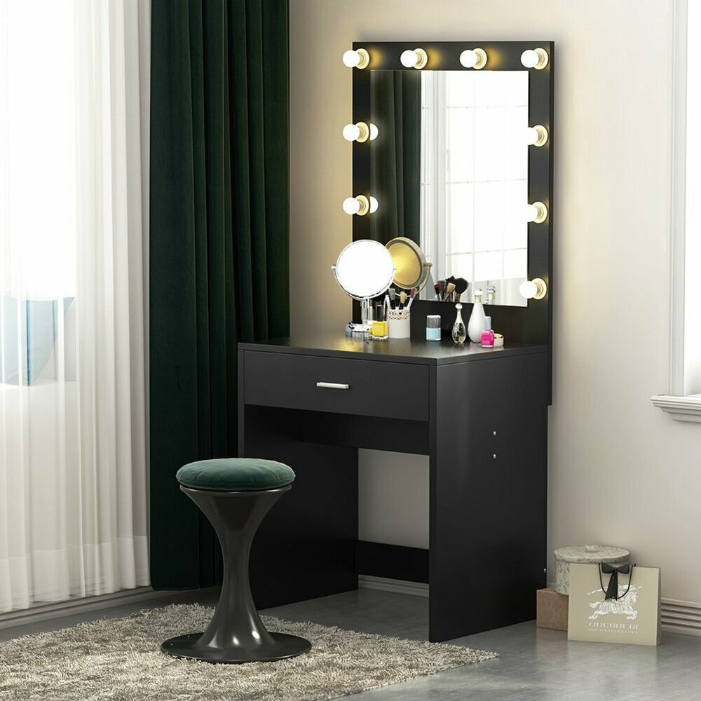 Tribesigns Vanity Set with Lighted Mirror,Makeup Dressing ...