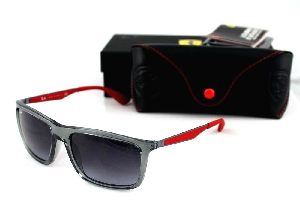 1f4f31ed64 Details about NEW Genuine Scuderia FERRARI RAY-BAN Grey Red Sunglasses RB  4228-M F610 8G 58 mm