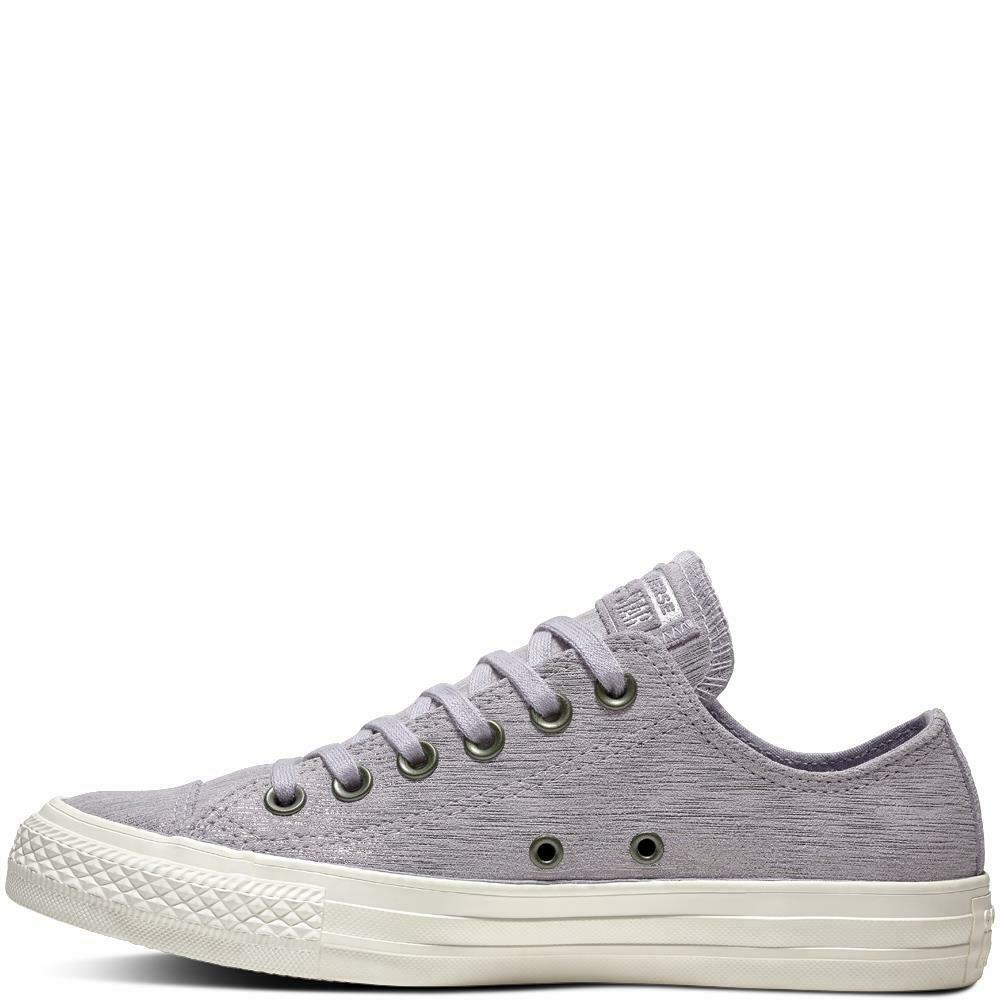 26dc936993ee Details about Converse Chuck Taylor All Star Precious Metal Suede Womens  Low Top Purple UK 3-8