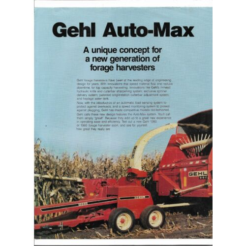 original-gehl-automax-60-series-forage-harvester-760-1060-1260-sales-brochure