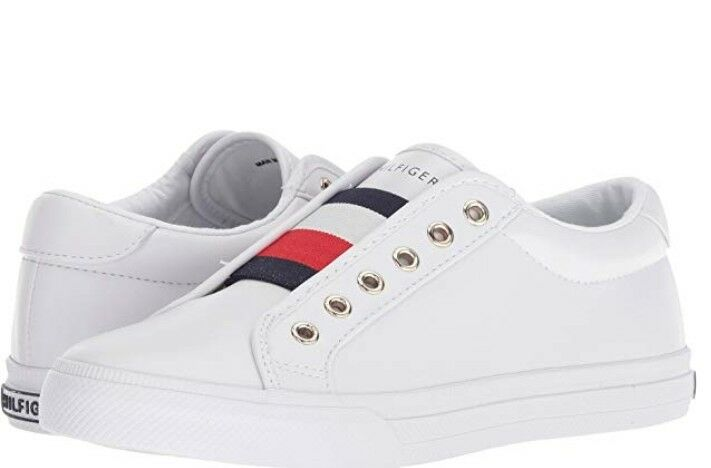 d22d217dc7 Details about Tommy Hilfiger Women Sneakers Slip-on Leather Laceless Shoes Casual  White New