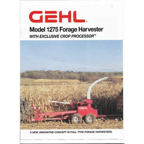original-oem-gehl-model-1275-forage-harvesters-w-crop-processor-sales-brochure