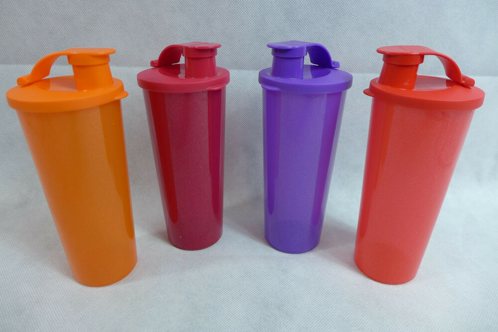 0224c3b768 Tupperware Tumblers Be Dazzled Lot of 4 Seals Flip-Top 16-oz. Sparkly New