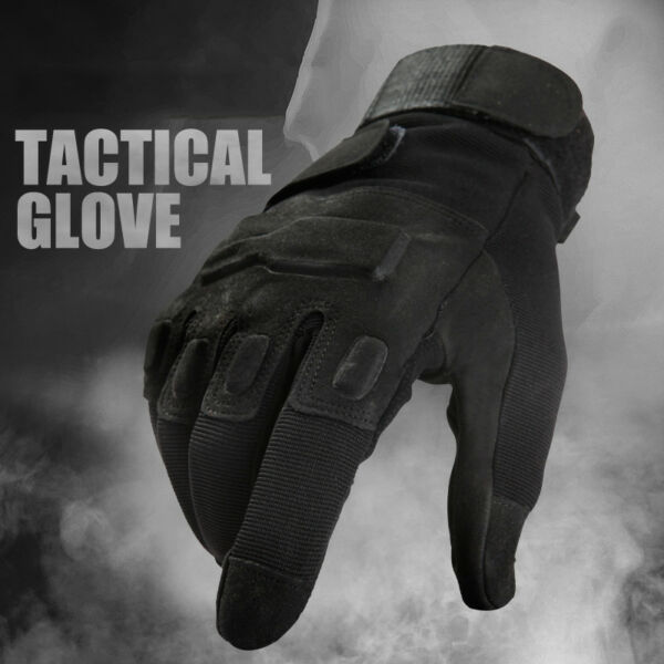 Men Tactical Combat Hunting Anti-skid Ripstop Military Full Finger Riding Gloves