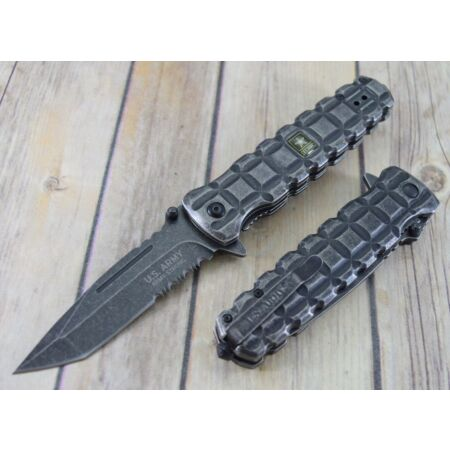 img-Couteau Tactical US Army Slugger A/O Lame Tanto Acier Carbone Manche USAA1026BS