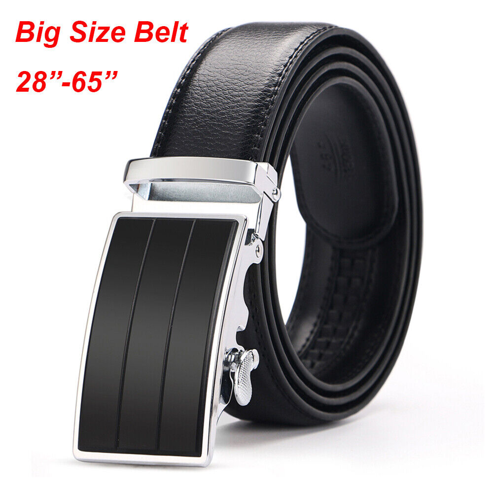 75ff07d7a8dd Details about Men s 100% Genuine Leather Belts For Men Solid Buckle with  Automatic Ratchet