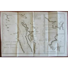New Zealand coast Mercury Bay Tolaga Capt. Cook 1797 large old engraved