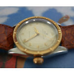 Rare Vintage Men ROLEX Oyster Speed King Gold Bezel Winding Wrist Watch SWISS