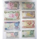 COMPLETE Set of 8 SINGAPORE Old Bank Notes $1 to $1000 Orchid A1 Series