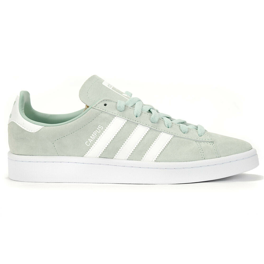 the best attitude 3f269 ce6aa Details about Adidas Originals Mens Campus Ash GreenWhite Shoes DB0982  NEW!