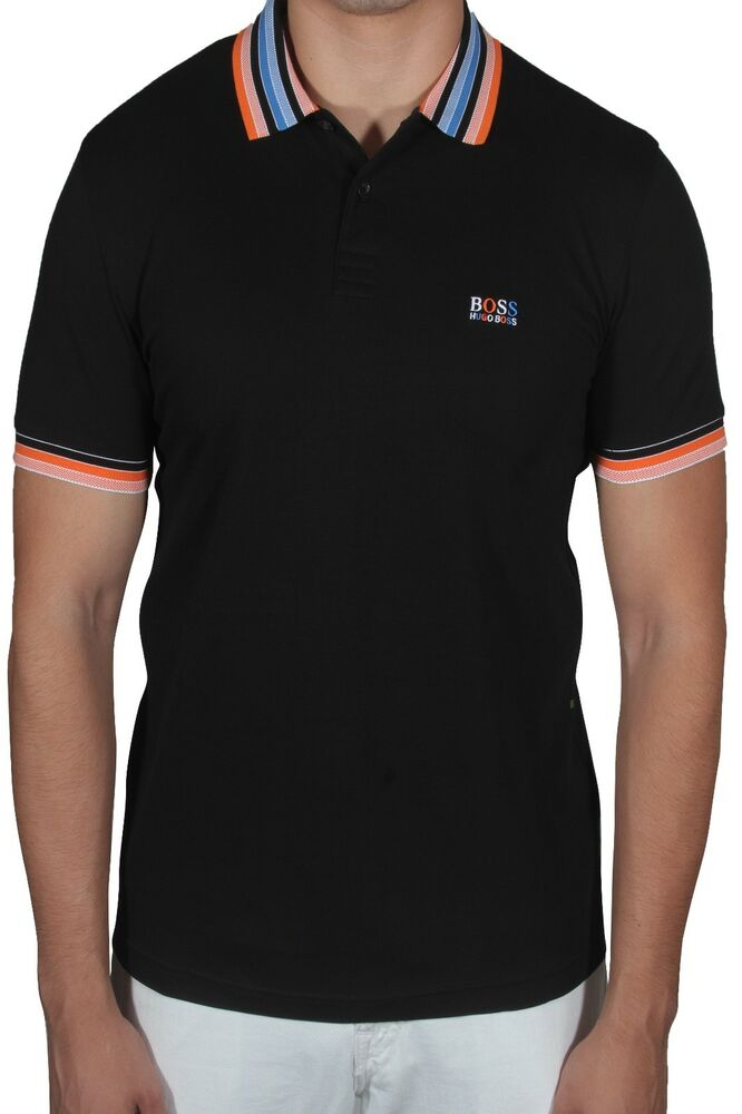 cad25c451 Details about Hugo BOSS Paddy 1 Men's Polo Shirt Short Sleeve Regular Fit  50389074 001 Black