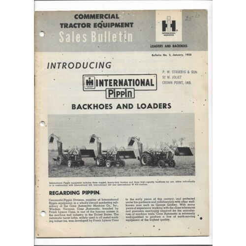 original-1958-international-pippin-backhoes-loaders-sales-bulletin-no-2-cr1218h