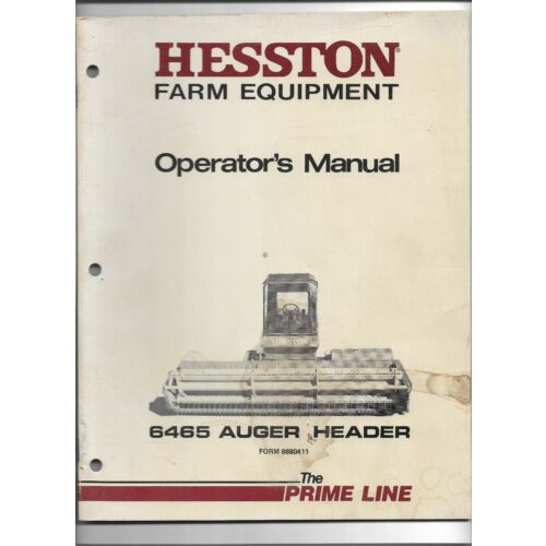 original-hesston-6465-auger-header-operators-manual-8880411-dated-september-84