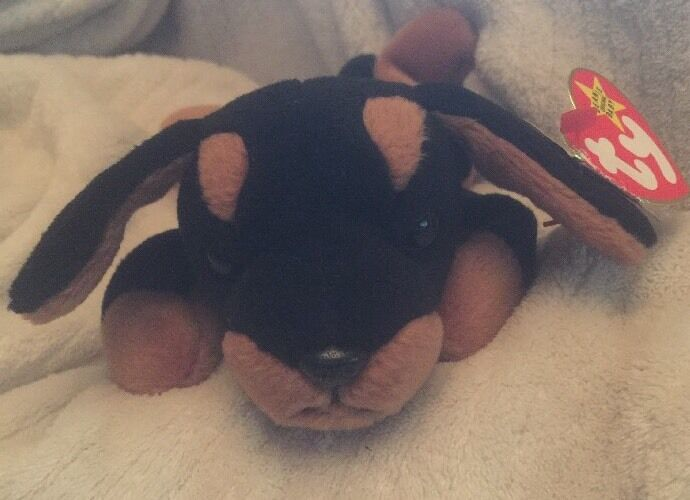 ac1e321af8d Rare Doby The Doberman Pinscher Dog Ty Beanie Baby Style 4110. Multiple  Errors.
