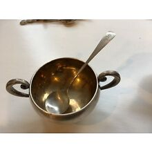 Vintage Frank M. Whiting Sterling Silver Sugar & Creamer & 2 Spoons MUST SEE