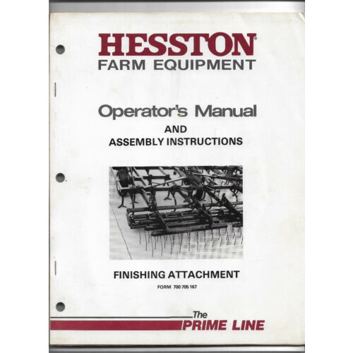 original-oe-hesston-finishing-attachment-operators-manual-assembly-instructions