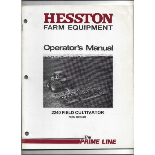 original-hesston-2240-field-cultivator-operators-manual-700701335-october-1983