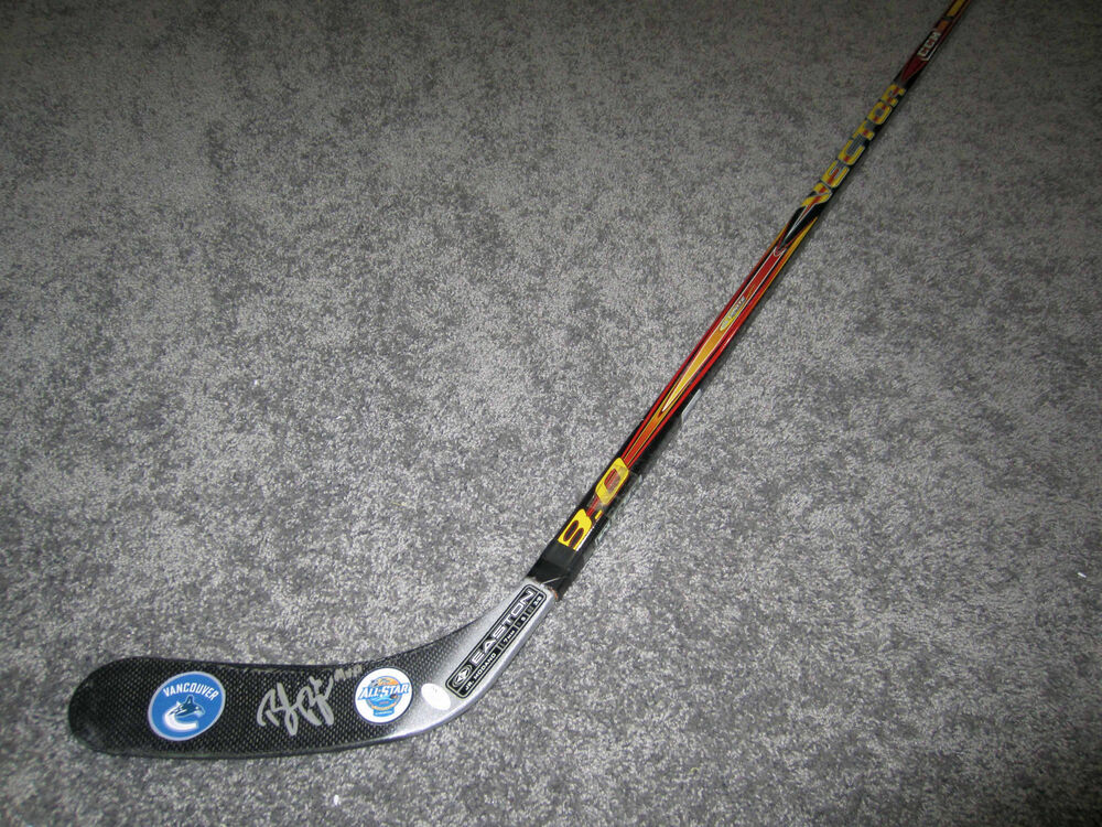 BROCK BOESER Vancouver Canucks SIGNED Autograph Hockey Stick w/ COA