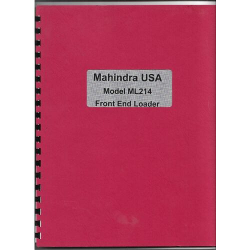 original-mahindra-model-ml214-front-end-loader-operators-parts-manual-15031004