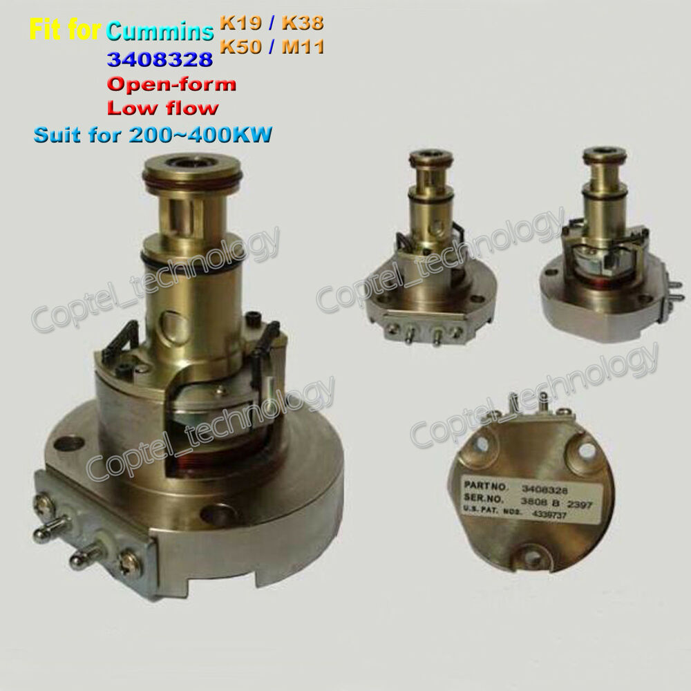 For Cummins K19 K38 K50 M11 Engine Actuator EFC 3408328 Open Form Low-flow  400KW | eBay