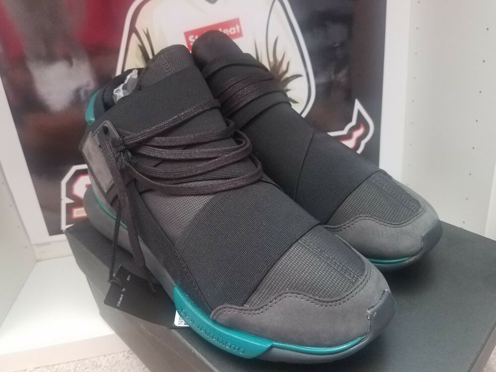 7c87baeed Adidas Y-3 Qasa High in Charcoal Black Teal BB4735 Size 9.5
