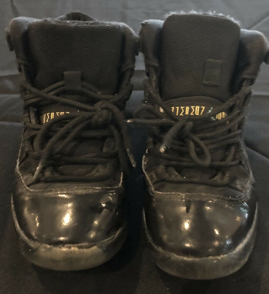 best website 6826e 8bc23 Details about Air Jordan Retro Gamma 11s GS Size 1y black blue 2013 kids  sneakers NIKE - USED