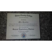 GED Certificate Only (Novelty) Free Shipping