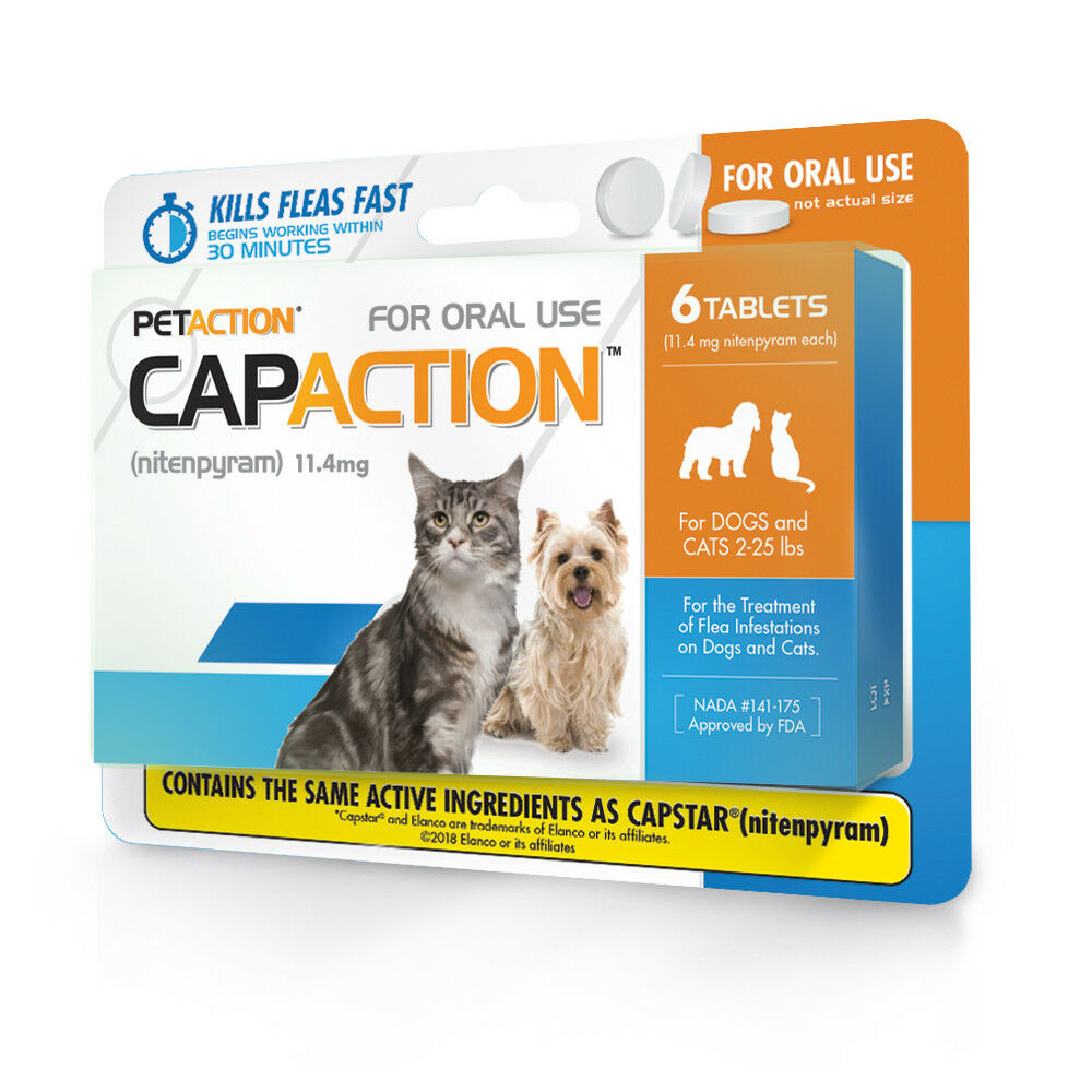 Petaction Capaction For Dogs Cats 2 25lbs Flea Treat