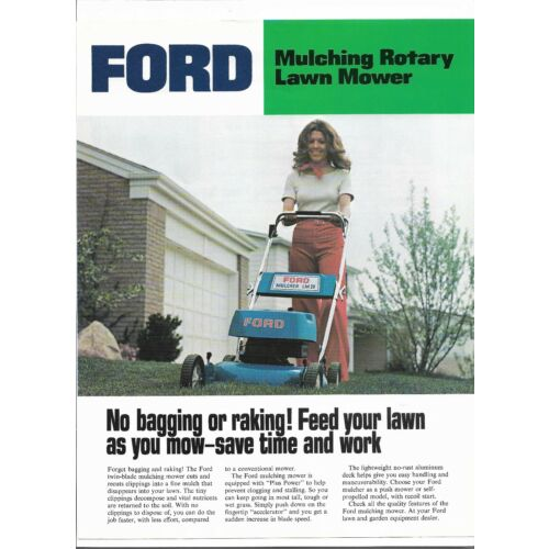 original-oe-oem-ford-mulching-rotary-lawn-mower-dealer-sales-brochure-spec-sheet
