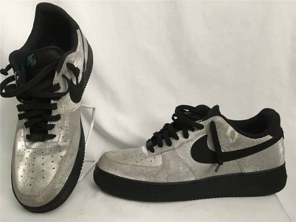 Details about NIKE AIR FORCE 1 LOW SPARKLY SILVER
