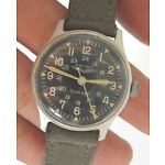 Rare Men Military Issued 24-hrs AIR FORCE Hand Wind Wrist Watch SWISS Made