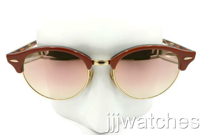 4b72d1948f Details about New Ray-Ban Clubround Tortoise Copper Gradient Flash Sunglasses  RB4246 12207O 51