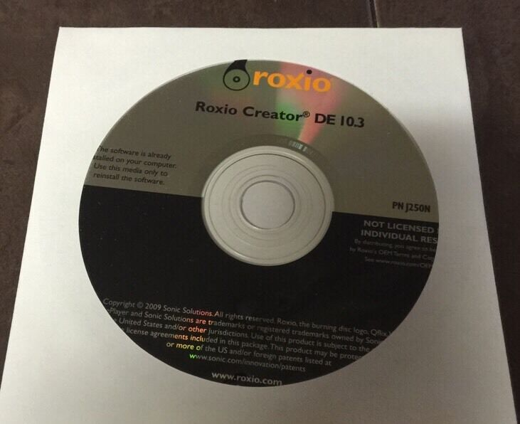 New dell roxio creator starter backup disc sealed p/n 0gyd9f | ebay.