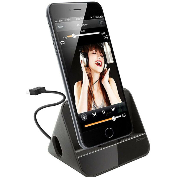 Ozaki dock lightning carica sincronizza+amplificatore acustico p iPhone X XS OZ6