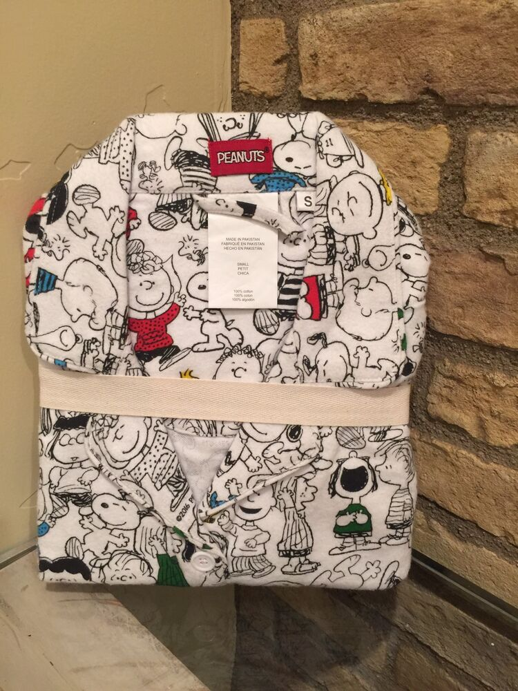 2c5beab47a Details about New Pottery Barn Teen Peanuts Friends Flannel Pajama set  Small PJ Christmas