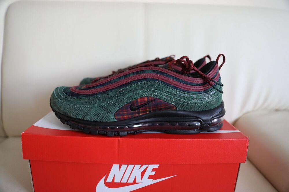 40120d04e77 Nike Air Max 97 NRG Jacket Pack AT6145-600 Team Red Midnight Spruce Mens  Shoes