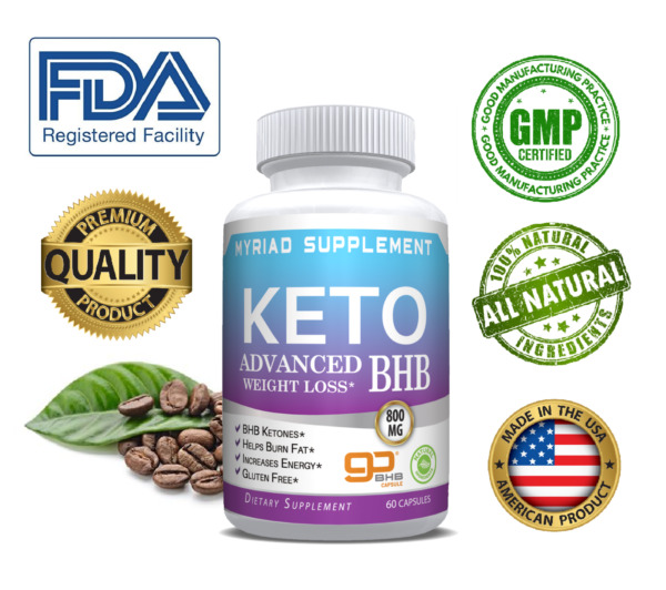 Keto Diet Pills BHB Best Ketosis Weight Loss Supplements Fat Burn&Carb Blocker