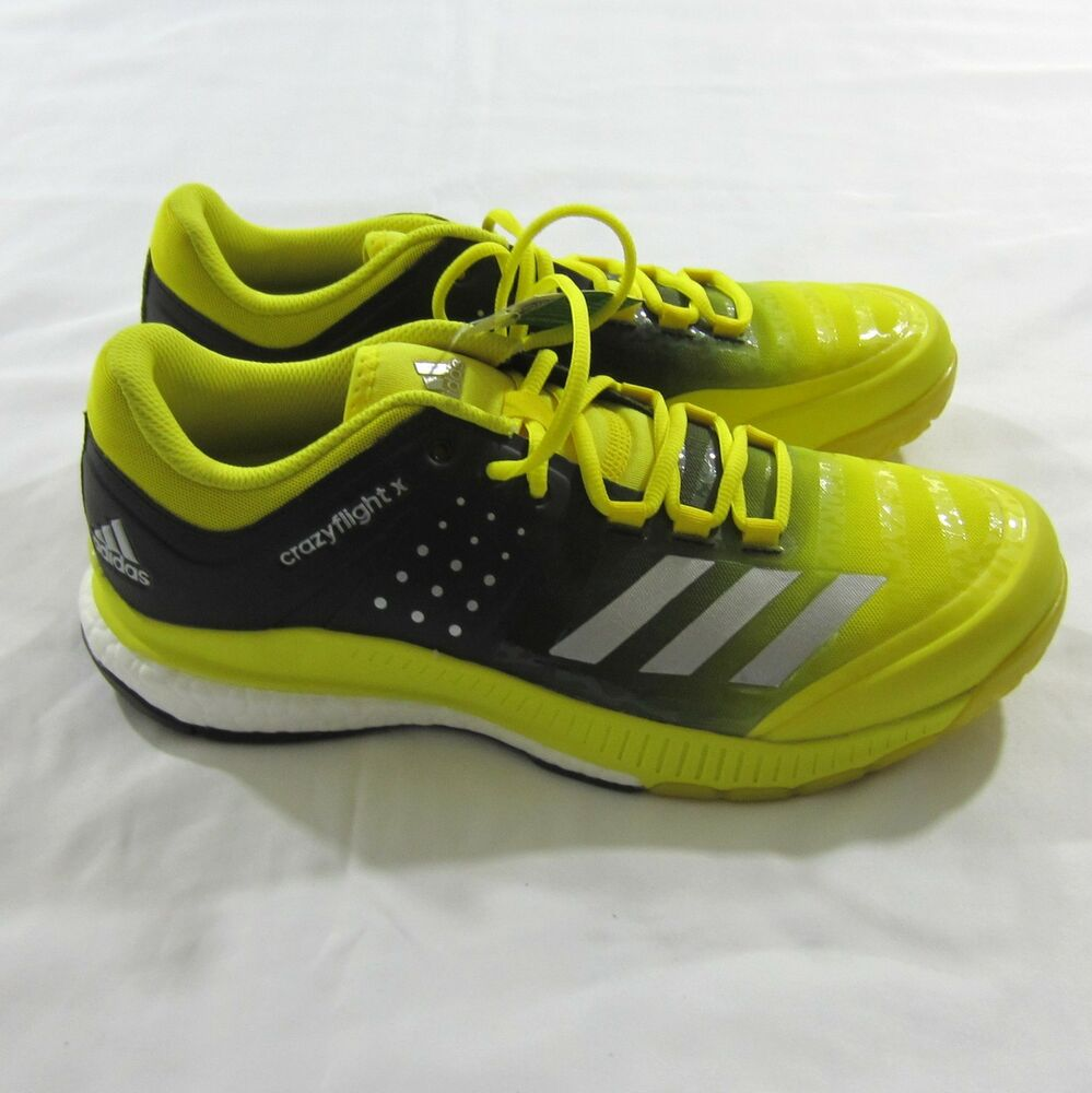 a1b290f14 Details about Adidas Women s Crazyflight X Volleyball Shoes - Size 11-  Yellow  Black Ba9267