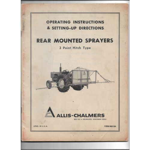 original-allis-chalmers-operators-manual-for-rear-mounted-3-point-mitch-sprayers