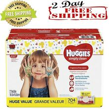 HUGGIES Simply Clean Fragrance Free Baby Wipes Soft Pack 704 Count Great offer