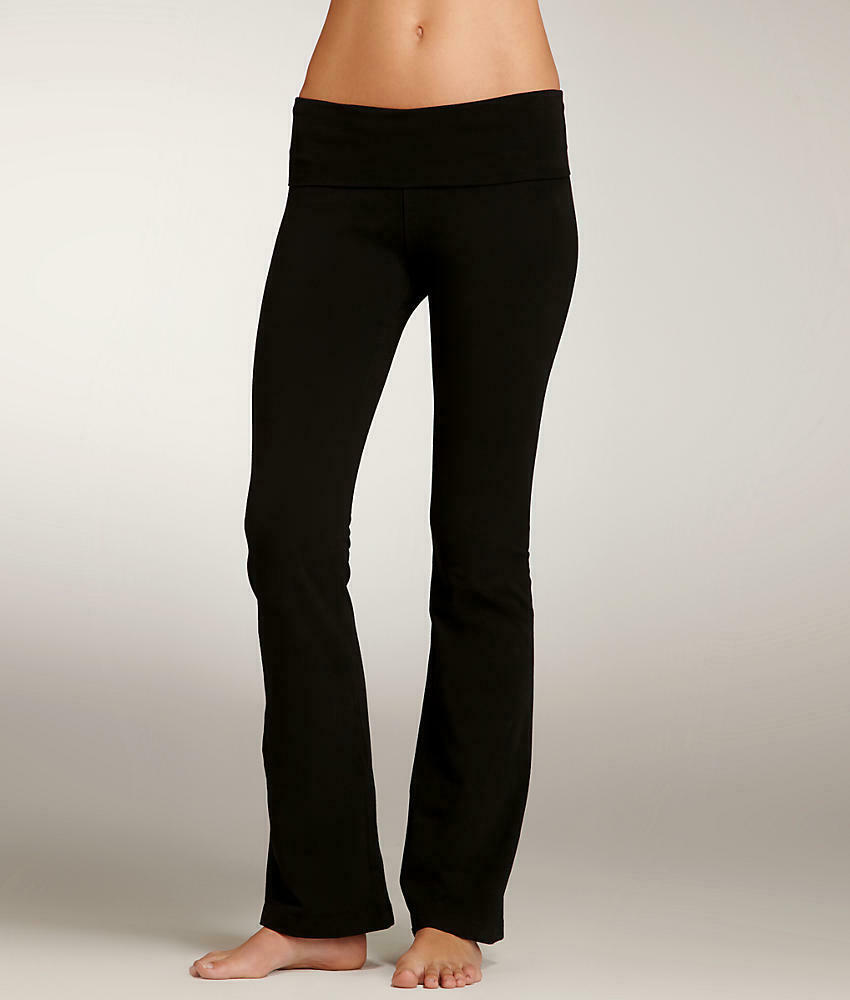 575904303a684 Details about Hard Tail Rolldown Boot Leg Yoga Pants Activewear - Women's