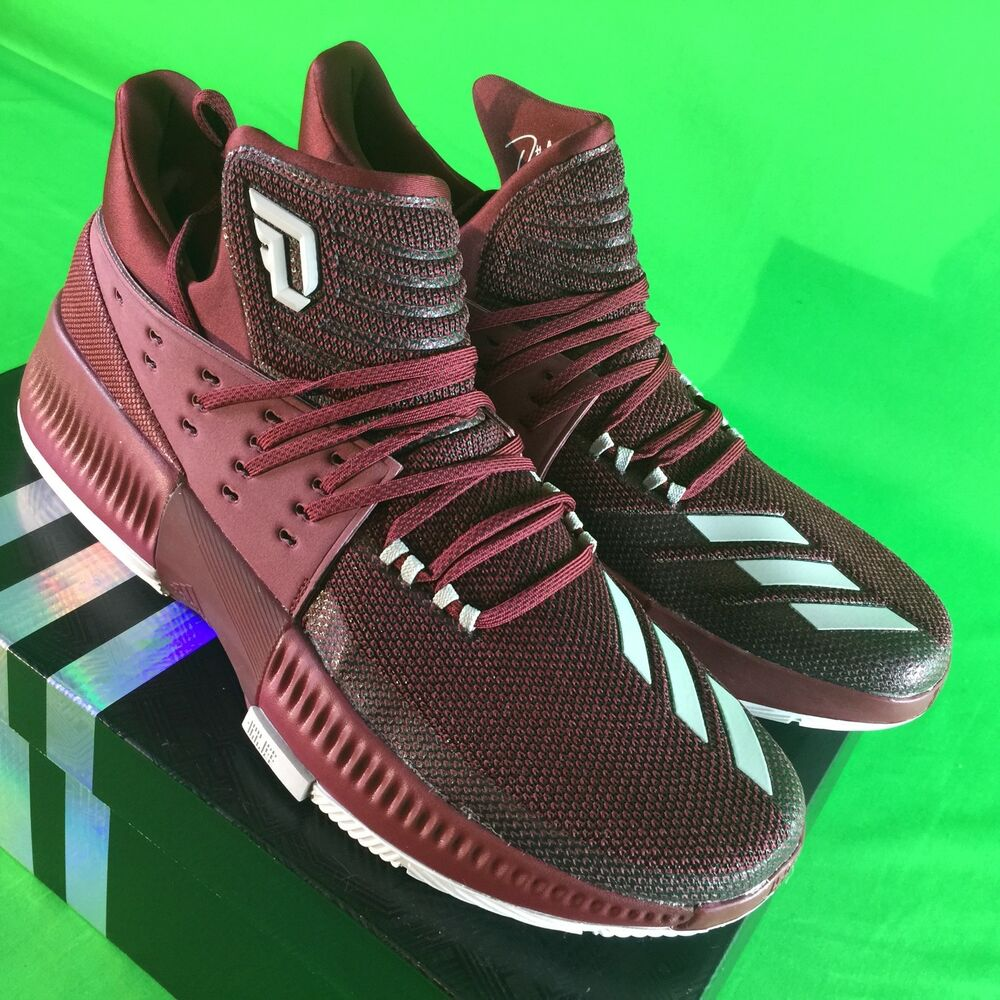 uk availability 0278e fc04c Details about Adidas Dame 3 Maroon Men s Size 14 Basketball Shoes NEW in  Box BY3195